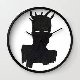 Selfportrait after Basquiat Wall Clock