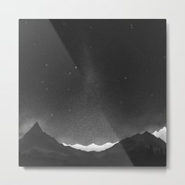 Ice Peaks Night Metal Print
