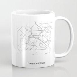 Paris Metro Underground Map Coffee Mug