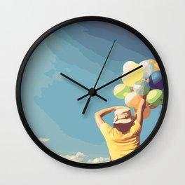 Balloon Release Wall Clock
