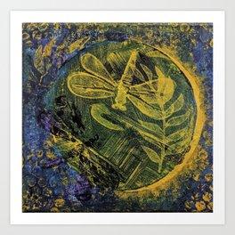 Dragonfly Dance #4 Art Print