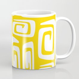 Mid Century Modern Cosmic Abstract 612 Yellow Coffee Mug