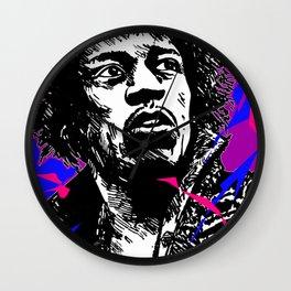 Jimi Hendrix Pop-Art (Purple Haze) Wall Clock