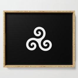 Triskele 10 -triskelion,triquètre,triscèle,spiral,celtic,Trisquelión,rotational Serving Tray