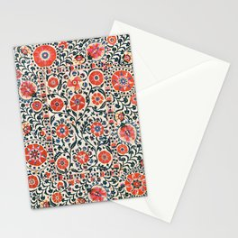 Shakhrisyabz Suzani  Uzbekistan Antique Floral Embroidery Print Stationery Cards