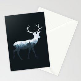 Deer Roe Fawn Elk Moose Double Exposure Surreal Wildlife Animal Stationery Cards