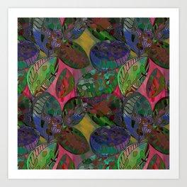 Oyster fantasy pattern design Art Print