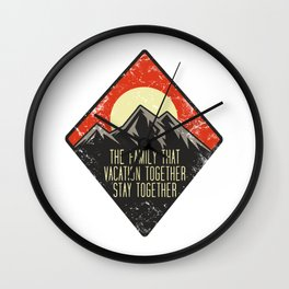 Family holiday together Wall Clock