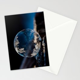 Blue Reflections Bubble Stationery Cards