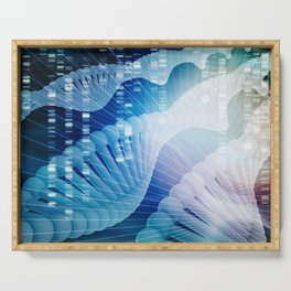 DNA Molecule Helix Science Abstract Background Art Serving Tray