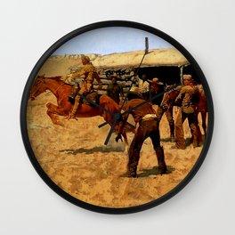 "Frederic Remington Western Art ""Pony Express"" Wall Clock"