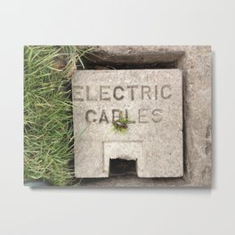 Electric Green Metal Print