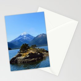 Lanin volcano. Patagonia Stationery Cards
