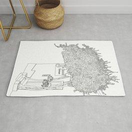 Bougainvillea Tree - Line Art Rug