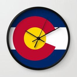 Flag of Colorado Wall Clock