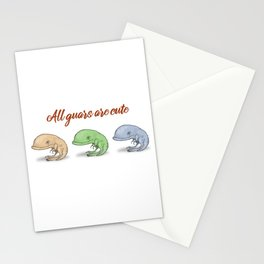 All guars are cute Stationery Cards