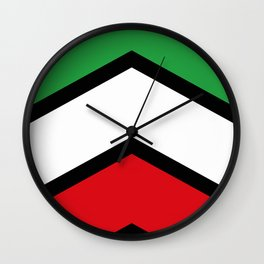 Chevron Iran Flag Colors Wall Clock