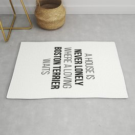 Boston Terrier Dog Cute Quote Rug