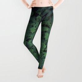 Fern Leaf Pattern Leggings