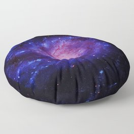 Spiral gAlAxy : Purple Blue Floor Pillow