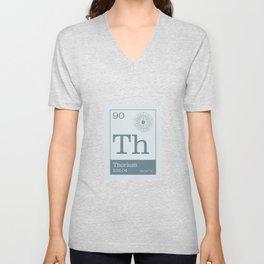 Periodic Elements - 90 Thorium (Th) Unisex V-Neck