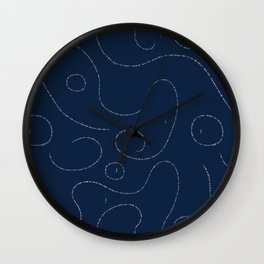 Celestial Stitches Wall Clock