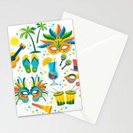 Colorful Brazilian Carnaval mandala Stationery Cards