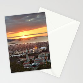 View of San Francisco Bay Area at Sunset from UC Berkeley Stationery Cards