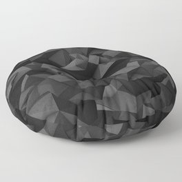 Black Polygon Texture Floor Pillow