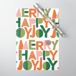 Merry Happy Joy Joy Wrapping Paper