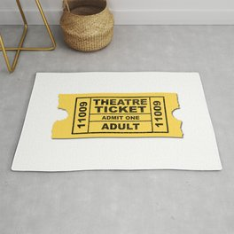 Theatre Ticket Rug