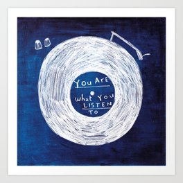 you are what you listen to, BLUE Kunstdrucke
