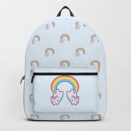 Kawaii proud rainbow cattycorn pattern Backpack