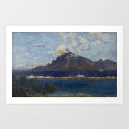 Landscape of Te Vaa Art Print