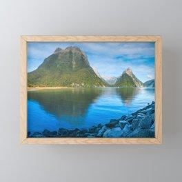 Serene Morning at Milford Sound Framed Mini Art Print