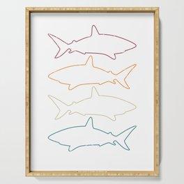 Shark Pattern Gift Idea Serving Tray