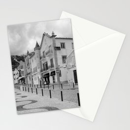 Near the Beach in Nazare BW Stationery Cards