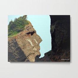 Indian Head Rock Metal Print