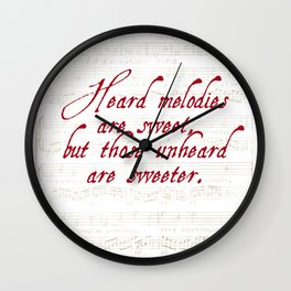 Quotation from Keats 'Ode to a Grecian Urn' Wall Clock