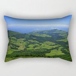 Green coastal landscape Rectangular Pillow
