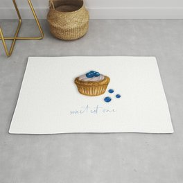 watercolor blueberry muffin Rug