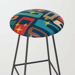 Retro Mid Century Modern Abstract Pattern 221 Bar Stool