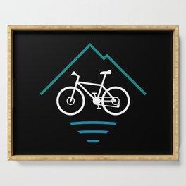 Trail Bike Cycling Logo Serving Tray