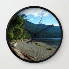 Lake Cresent Shore Wall Clock