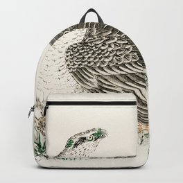 japanese hawk eagle illustration 42664063024 Backpack