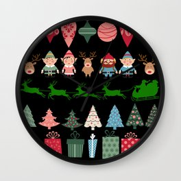 Christmas Elves & More Wall Clock