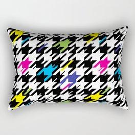 Houndstooth Glitch Rectangular Pillow