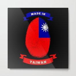 MADE IN TAIWAN FINGERPRINT Birthday Metal Print