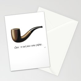 This Is Not A Pipe, Ceci n'est pas une pipe, Magritte Inspired T Shirt, Sketch, online T-shirt S Stationery Cards