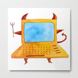 Evil Computer Metal Print